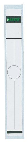 Leitz Rückenschild selbstklebend für Hängeordner, 10 Stück, Langes und breites Format, 34 x 279 mm, Papier, grau, 60940085