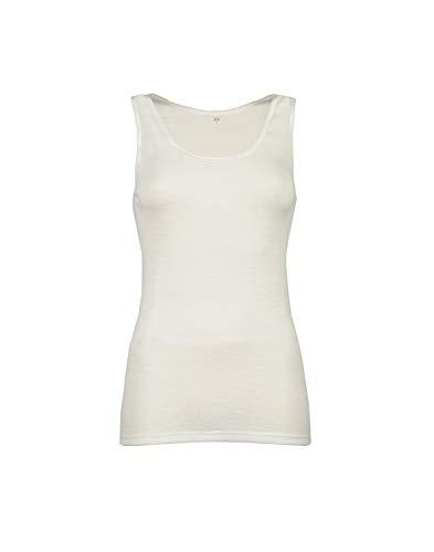 Dilling Merino Unterhemd für Damen - aus 100% Bio-Merinowolle Natur 40