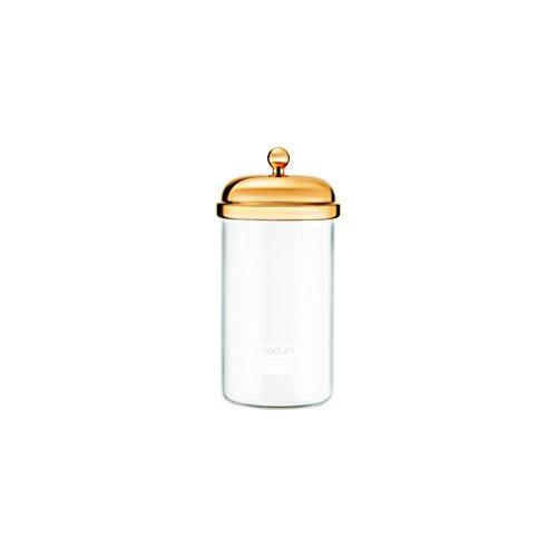 Bodum Classic Vorratsglas, Glas, Gold, 1 l