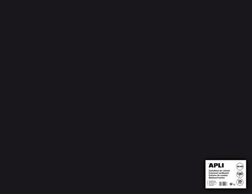 ALI 14279 - Cartulina negra 50 x 65 cm 170 g 25 hojas