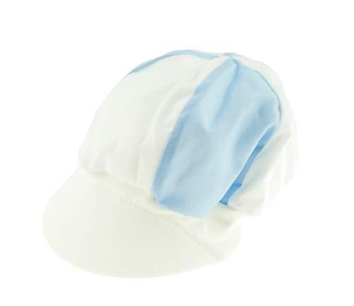 Glamour Girlz Bonnet d'été pour bébé garçon - Blanc - Taille S (3-6 mois)