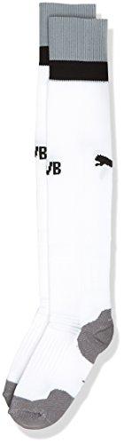 PUMA Herren BVB Socks Stutzen, White-Light Gray Heath, 3
