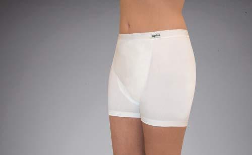 Suprima Inkontinenz Slip (Baumwolle/Lycra Slip mit angeschnittenem Bein) Art. 1-262-000 (für Frauen) - Gr. 4446 - weiss