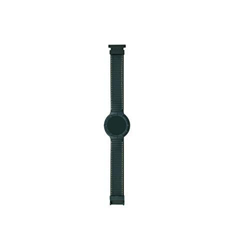 Cinturino di Ricambio HIP HOP LEATHER HBU0208 42mm Silicone Pelle Verde XL
