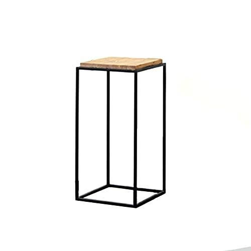 Soporte para plantas de interior, mesa auxiliar de patio, soporte alto para plantas para balcón, elegante estantería de esquina, mesa para macetas de jardín – 3 alturas (tamaño: 82 cm)