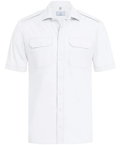 GREIFF Herren Pilothemd 1/2 Corporate WEAR 6731 Basic Regular Fit - Weiß - Gr. 41/42