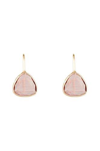 Córdoba Jewels | Pendientes en plata de ley 925 bañada en oro rosa con piedra semipreciosa. Diseño Triangle Frambuesa Oro Rosa