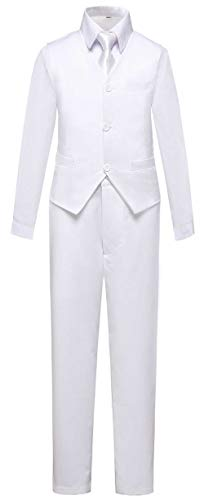 Addneo Boys Suits First Communion Outfit White Easter Kids Tux 4 Piece Formal Silm Fit Dress Clothes Size 2T