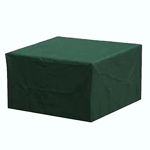 XJHKG Funda para Muebles De Jardín, Rectangular Impermeable Anti-UV Funda Protectoras Cubierta De Mesa Y Silla Protección (210x140x75cm,Verde)
