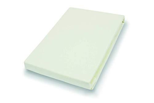 Premium Jersey Topper Hoeslaken met elastaan | ecru 90-120 x 200-220 cm
