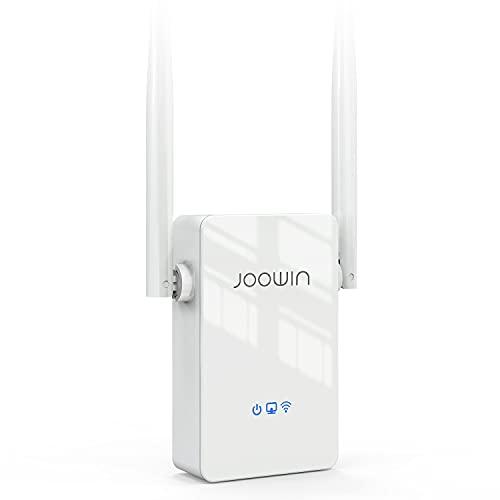 JOOWIN Ripetitore WiFi 300Mbps WiFi Extender Single Band 2.4GHz Ripetitore Segnale WiFi Casa, Modalità Ripetitore/Router/AP con WPS Funzione, 2 Antenne, Porta Ethernet WiFi Repeater