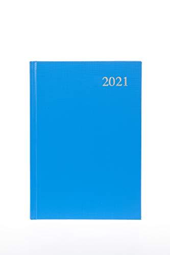 Collins Essential - Agenda giornaliera 2021, formato A4, colore: Azzurro