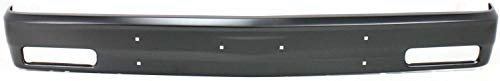 Front Bumper Compatible with CHEVROLET S10 BLAZER 1983-1994/S10 PICKUP 1982-1993 Black