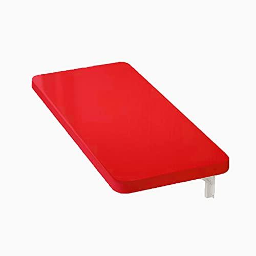 KUFEI Soportes de Estante Plegable, Soportes para Estantes Plegables de Acero Inoxidable, 2,5 MM de Espesor, Tablero de Mesa Lacado Rojo,Varios Tamaños Disponibles