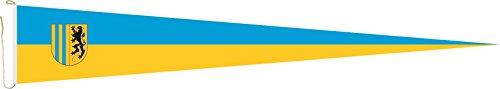 U24 Langwimpel Chemnitz Fahne Flagge Wimpel 150 x 40 cm Premiumqualität