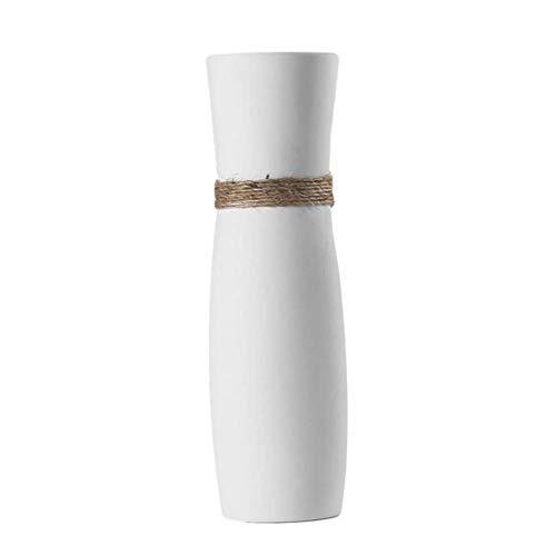 SUPVOX Camera da Letto in Ceramica Bianca Vaso pianta Bottiglia Home Desktop Decorazioni in Ceramica Ornamento Camera da Letto