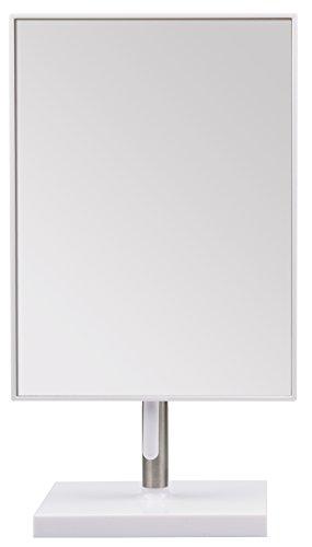 Titania Miroir cosmétique Blanc Plus Métal, Env. 21,5 x 16 cm, hauteur 30 cm, 1er Pack (1 x 547 g)