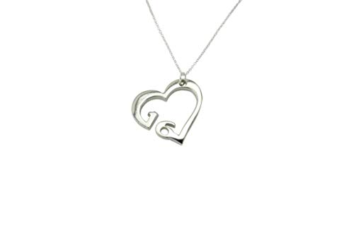 16 Year Wedding Anniversary Necklace - Heart Shaped with 16 Year Cut Out Design
