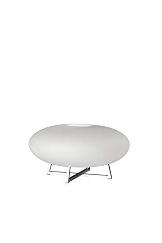 Villeroy&Boch Marseille Tischleuchte, Metall, 6 W, Silber/Weiß, H 16 cm, Ø 30 cm