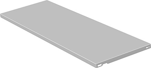 Element System 10700-00020 Stahlfachboden Regalboden / 2 Stück/B x T = 80 x 30 cm/weiß/für Wandschiene und Pro-Regalträger