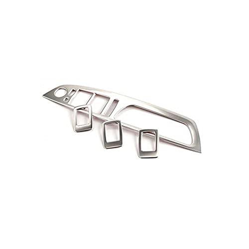 ZIMAwd Botones de elevación de Vidrio de Ventana de Coche, Cubierta de Panel de botón de Interruptor de elevación de Ventana de Puerta de Coche, Apto para BMW X5 E70 X6 E71 2008-2014