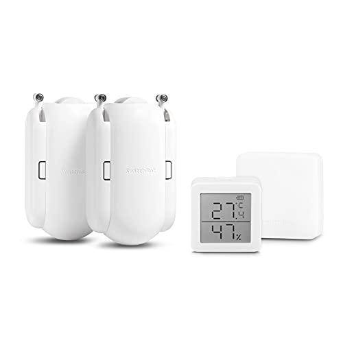 SwitchBot スイッチボット スマートホーム 学習リモコン + デジタル 温湿度計+マートホーム カーテン(1 リモコン+1デジタル 温湿度計+2カーテン)