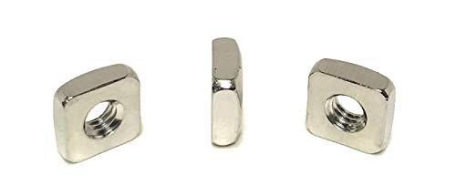 8-32 Stainless Steel Square Nuts 18-8 (25 Pcs)