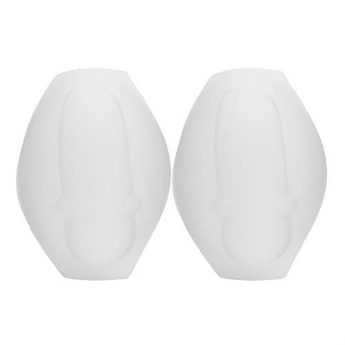 Alvivi Männer Push Up Bulge Pouch Vergrößern Penis Schutz Pad Schwamm Einlage Abnehmbare Unterwäsche für Boxershorts Badehose Weiß 2 Stück Einheitsgröße