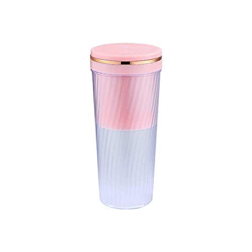 LUOYANFA Mini exprimidor de frutas portátil exprimidor eléctrico inalámbrico de carga USB pequeña máquina de cocina exprimidor de mano (color rosa cereza)