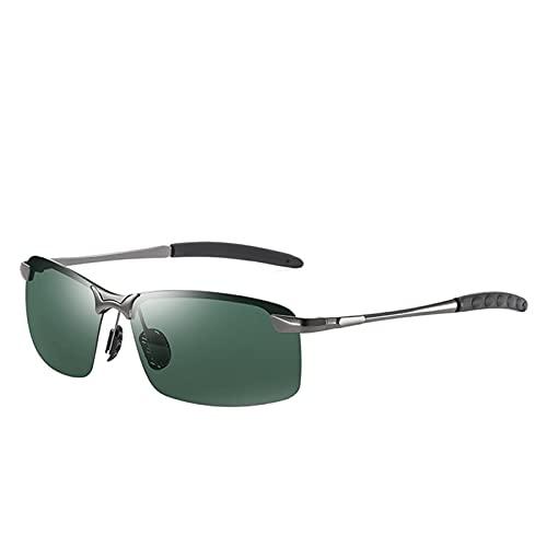 YUANBOO Gafas de Sol fotocrómicas polarizadas Hombres Que conducen Rectángulo Campeon Cambiar Color GAPAS DE Sol Día Noche Visión Anti deslumbramiento Gafas (Lenses Color : C6)