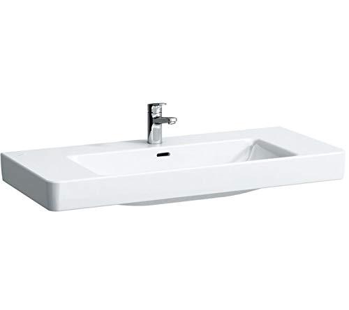 Laufen PRO S Aufsatz-Waschtisch, 3 Hahnlöcher, mit Überlauf, 1050x460, weiß, Farbe: Weiß mit LCC