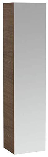 Lopende ILBAGNOALESSI Eén hoge kast met spiegel, 4 legplanken, rechts scharnier, 1 deur, 1700x400x300, Kleur: Wit gelakt - H4580410976311