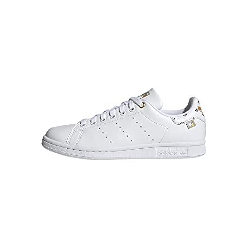 adidas Originals womens Stan Smith White/Silver Metallic/Gold Metallic 8