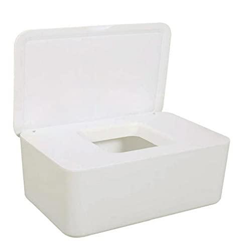 Fivesix Caja de Almacenamiento para toallitas secas Wet Hoja Hoja de servilleteros dispensador con Tapa para Home Office Blanca, Accesorios de Cocina