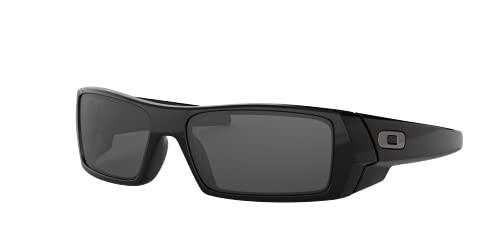 Oakley Gafas de sol montura negra, lentes grises, 60MM