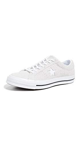 Converse Unisex-Erwachsene Lifestyle One Star Ox Suede Fitnessschuhe, Weiß (White/White/White 100), 44.5 EU