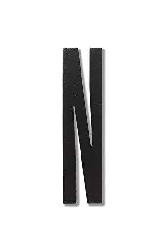 Design Letters 30201000N Lettres et Chiffres, Bois, Noir, Taille Unique