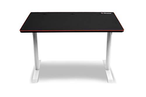 Arozzi Leggero Desk, Acciaio, Bianco, 114 x 72 x 72.5 cm