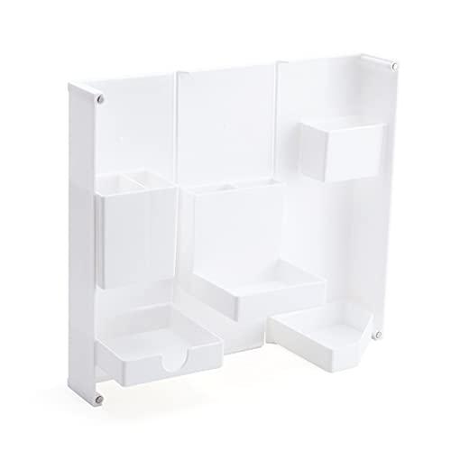 Yemyor Schreibwarenbox Faltstiftetui Rechteckiger Bürobedarfsstifthalter, Kosmetikbox (Weiß)