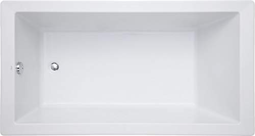Mirabelle MIRSKS6032WH Sitka 60' X 32' Acrylic Soaking Bathtub for Drop In or Undermount Installations with Reversible Drain