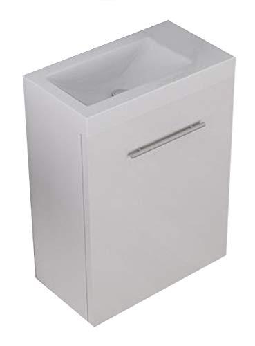 Unterschrank PATRO 45 (hochglanz-weiß) inkl. Waschtisch