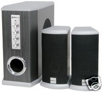 Affordable Y5F-NEW COMPACT HIGH POWERED QM2.1 CHANNEL ACTIVE SPEAKER SYSTEM (60W RMS)