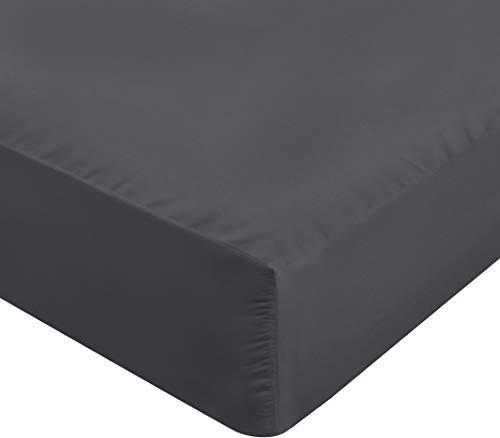 Utopia Bedding Jersey Spannbetttuch - Bettlaken Fur Wasserbett & Boxspringbett - 100% Baumwolle Spannbettlaken - 170g/m² - Steghöhe bis zu 35cm (180 x 200 cm, Anthrazit)