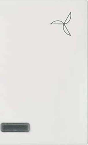 Elso 273180 wip verlicht met tekstveld symbool met ventilator Joy, parelwit