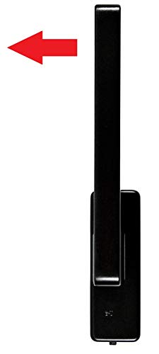 GU Schiebetür PSK Drehgriff DIRIGENT 966/976 DIN rechts braun UC5 mit Aussperrsicherung incl. SN-TEC Montageschlüssel