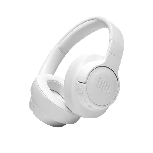 JBL Tune 710 BT – Faltbare Bluetooth Over-Ear Kopfhörer in Weiß – Kabellose Ohrhörer mit JBL Pure Bass Sound – Langer Musikgenuss von bis zu 50 Stunden