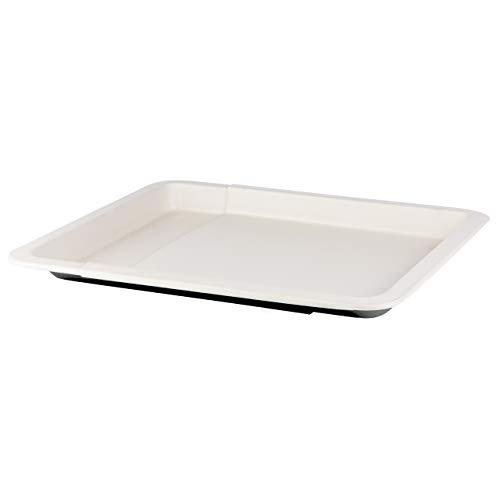 Teglia per Pizza Rettangolare. Stampo da forno antiaderente bordi alti estensibile 33-52 cm nero crema