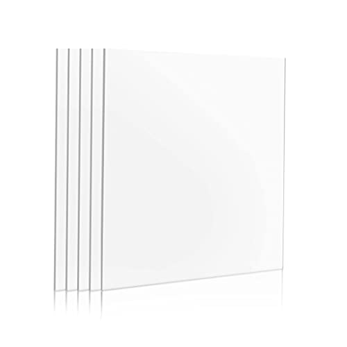 Broken Glass Replacement Sheets for Picture Photo Frames - 2.0 mm Thick Ultra-Transparent - Works as Perspex Acrylic Sheets DIY Project 6x8 inches Pack of 5 Pcs.