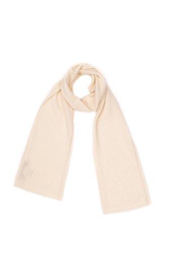 DALLE PIANE CASHMERE - Mini Sciarpa 100% cashmere - Uomo/Donna, Colore: Panna, Taglia unica