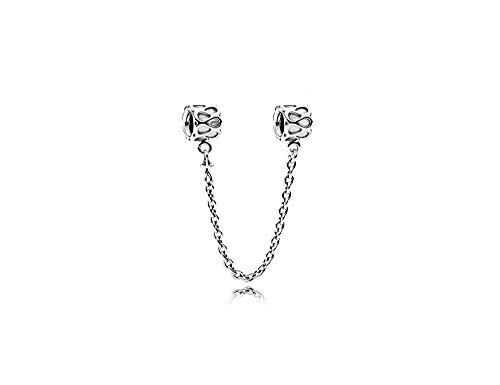 MiniJewelry - Cadenas de seguridad para pulseras de abalorios con cadenas de seguridad de plata de ley 925
